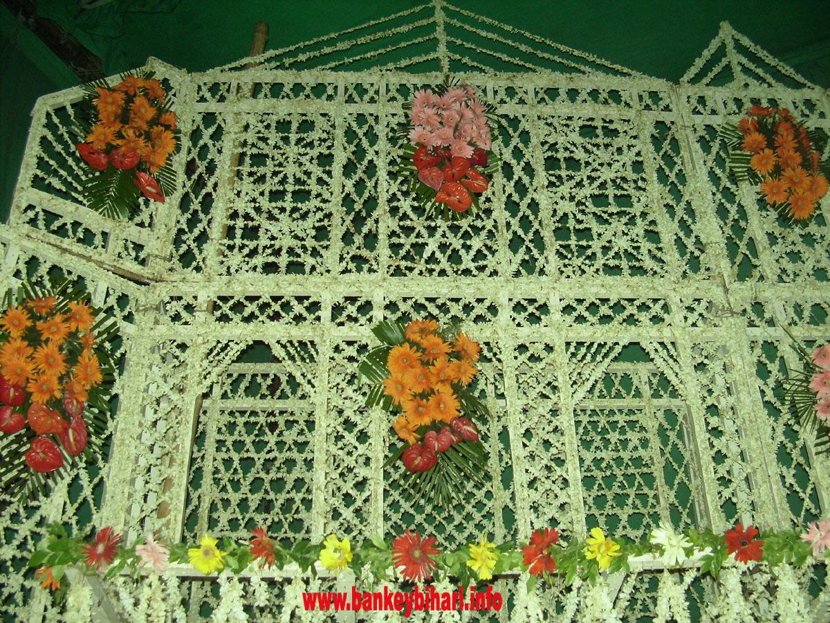 Phool Bangala Gallery Shri Bankey Bihari Temple Vrindavan